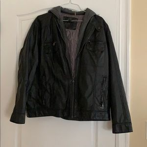 Calvin Klein leather waisted jacket
